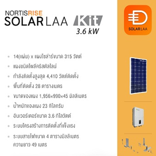 Solarlaa Kit S 3.6kW (Recommend Set)